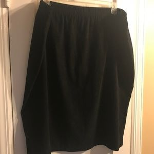 Dresses & Skirts - Black Work/Dress Micro Suede Skirt w/ Back Split